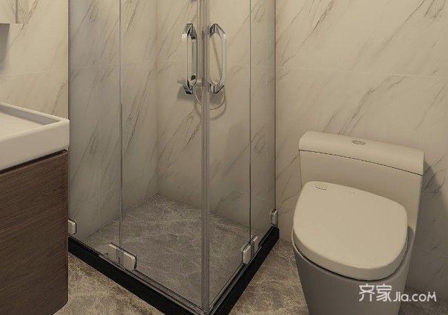 120平简约风格装修卫生间装潢图