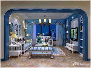 140㎡地中海风格客厅设计图