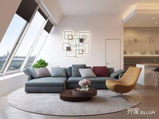 简约复式装修客厅效果图