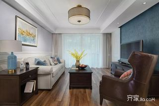 145平美式风格装修客厅效果图