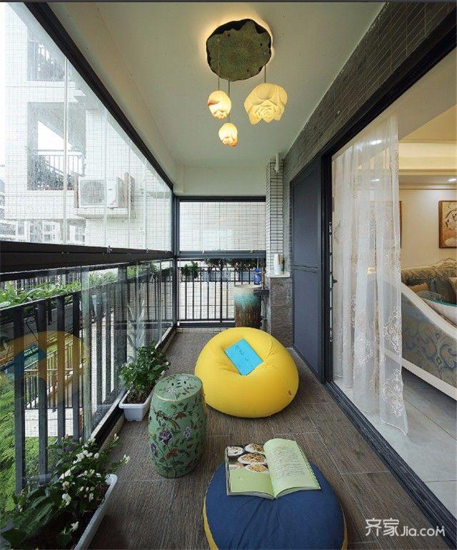 三居室简欧风设计阳台
