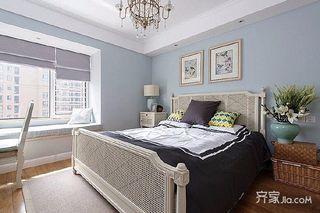 80平北欧风格装修卧室效果图