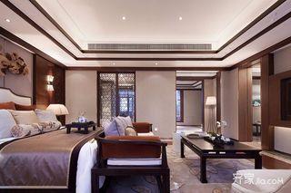150平四居室中式韵味之家卧室欣赏图