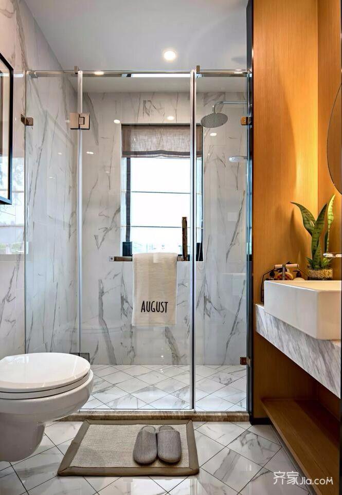 二居室简约风之家卫生间装潢图