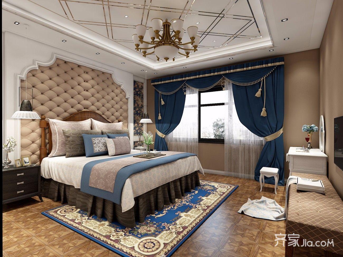欧式风装修卧室效果图