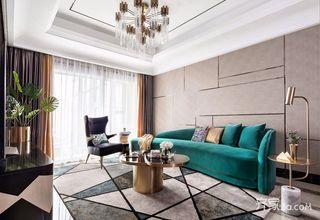 三居室欧式风格家客厅效果图