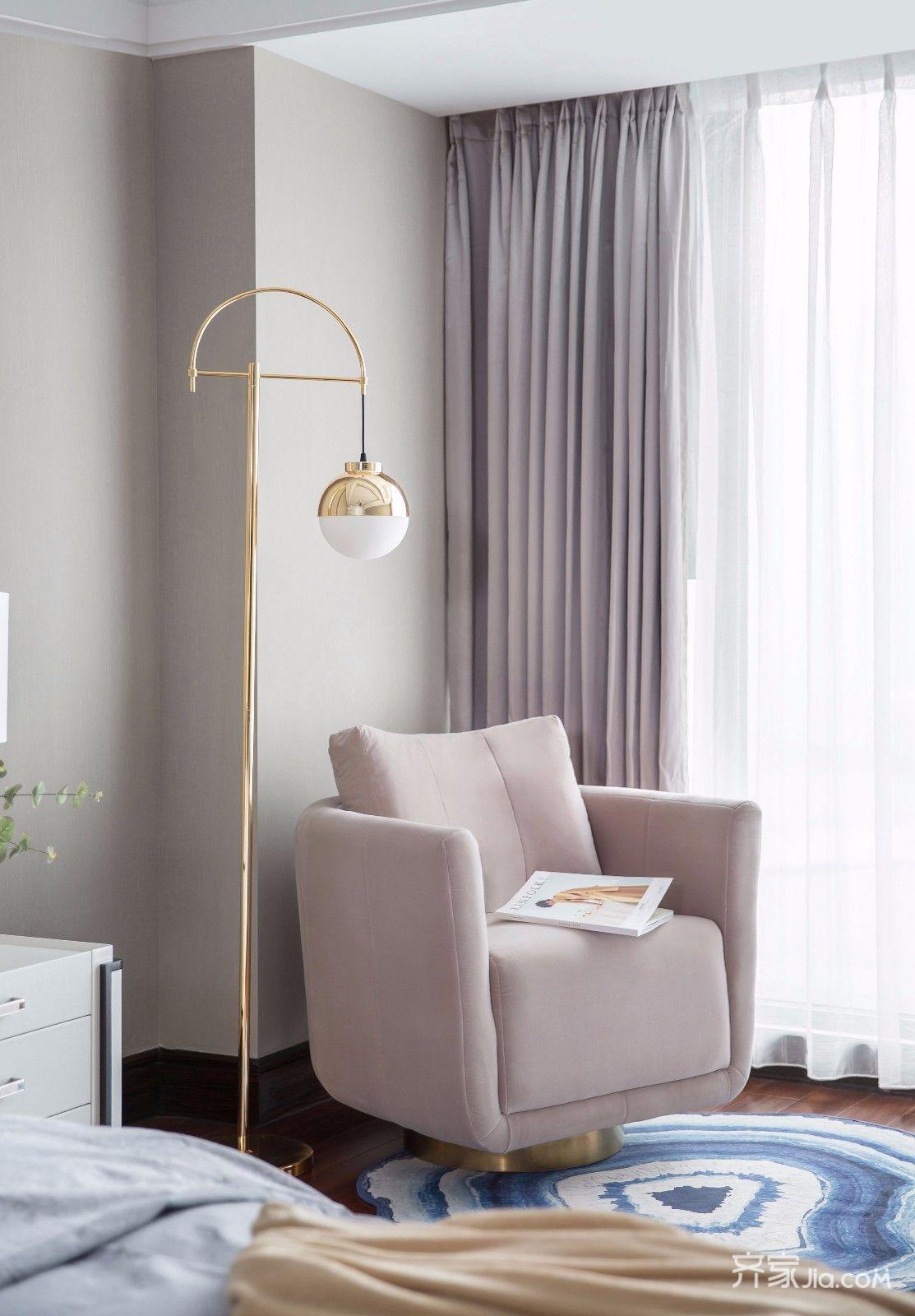 三居室欧式风格家窗帘图片