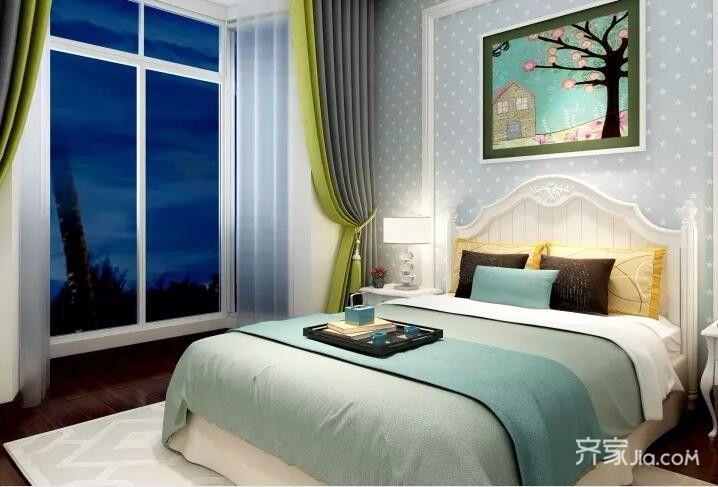 二居室欧式风格装修次卧效果图