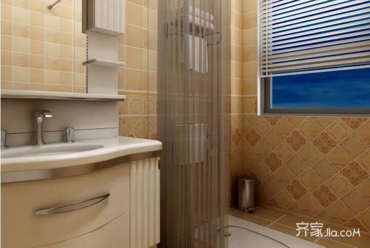 二居室欧式风格装修卫生间装潢图