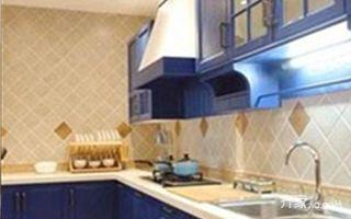 80㎡地中海风格家厨房实景图