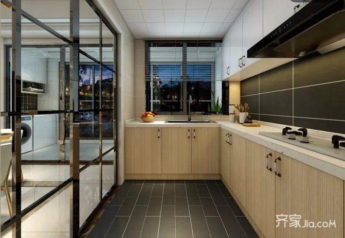 150平简约风格装修厨房装潢图