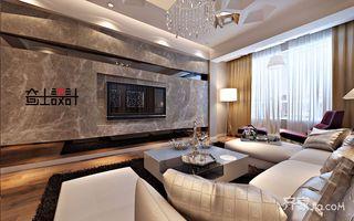 120平现代奢华风装修窗帘图片