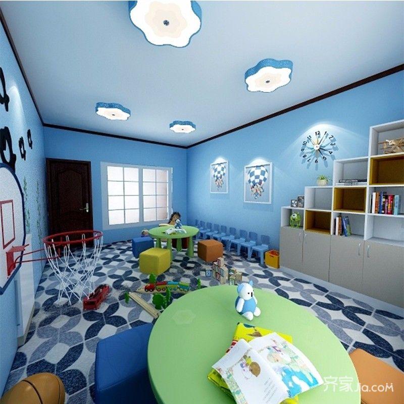 简约三居室装修教室背景墙效果图