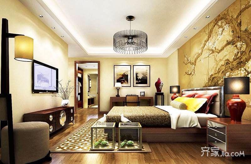 160平中式怀旧之家卧室装潢图