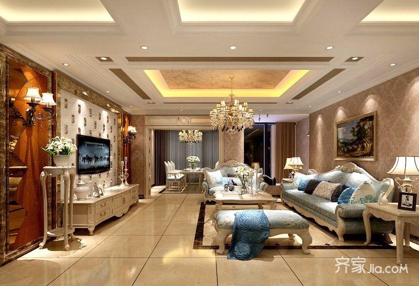 奢华欧式风格装修客厅效果图