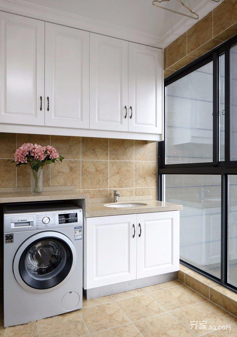 二居室简约风格装修阳台橱柜图片