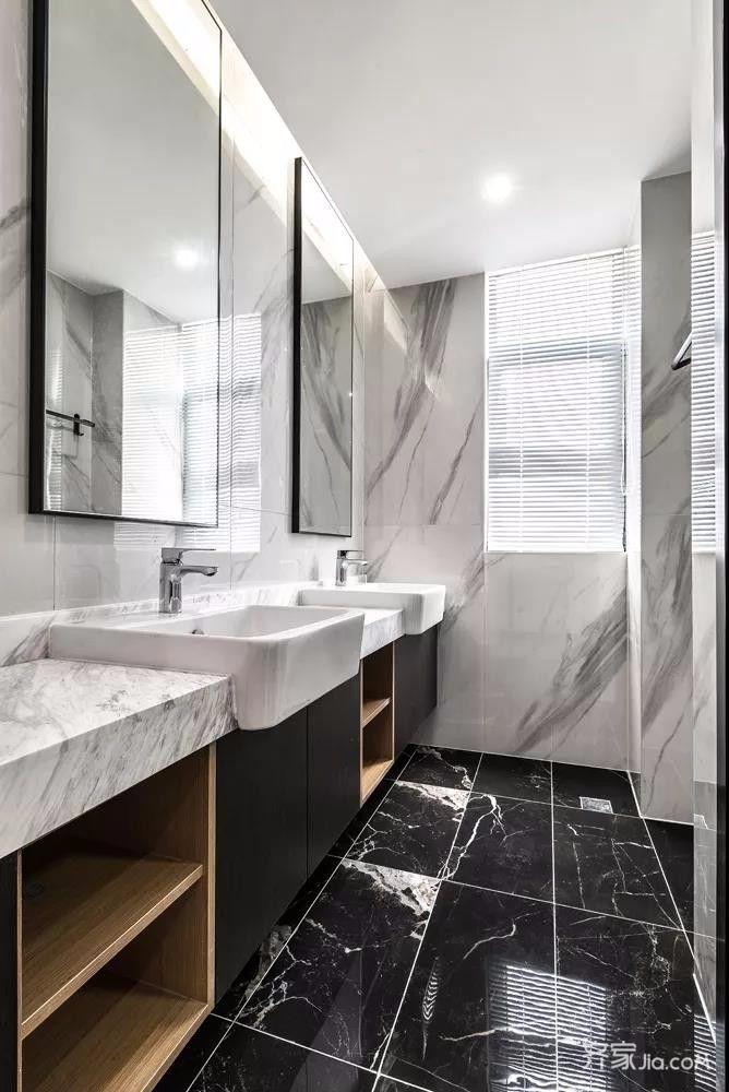 三居室简约风格装修卫生间装潢图
