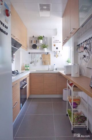 70m²宜家风格装修厨房实景图