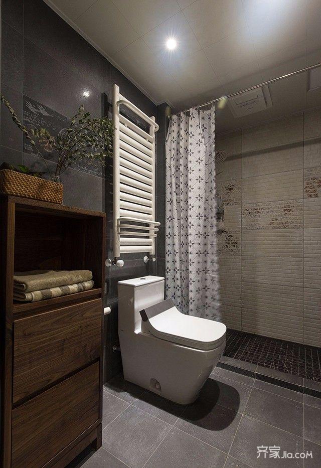 160平现代简约风格装修卫生间装潢图