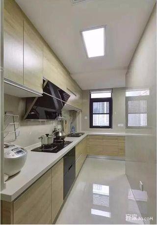 简约风格装修的90平厨房构造图