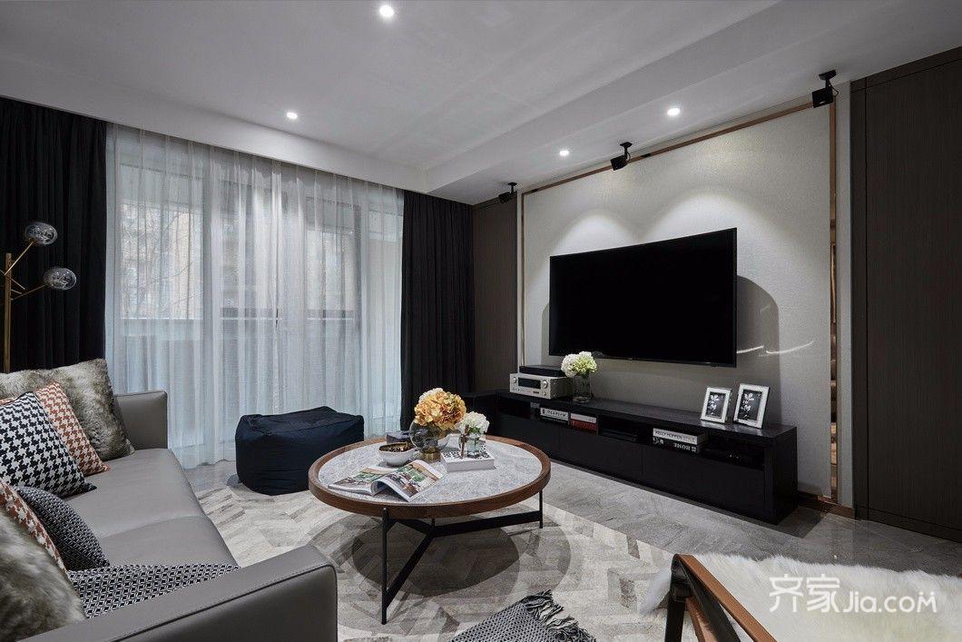 现代简约风格装修客厅效果图