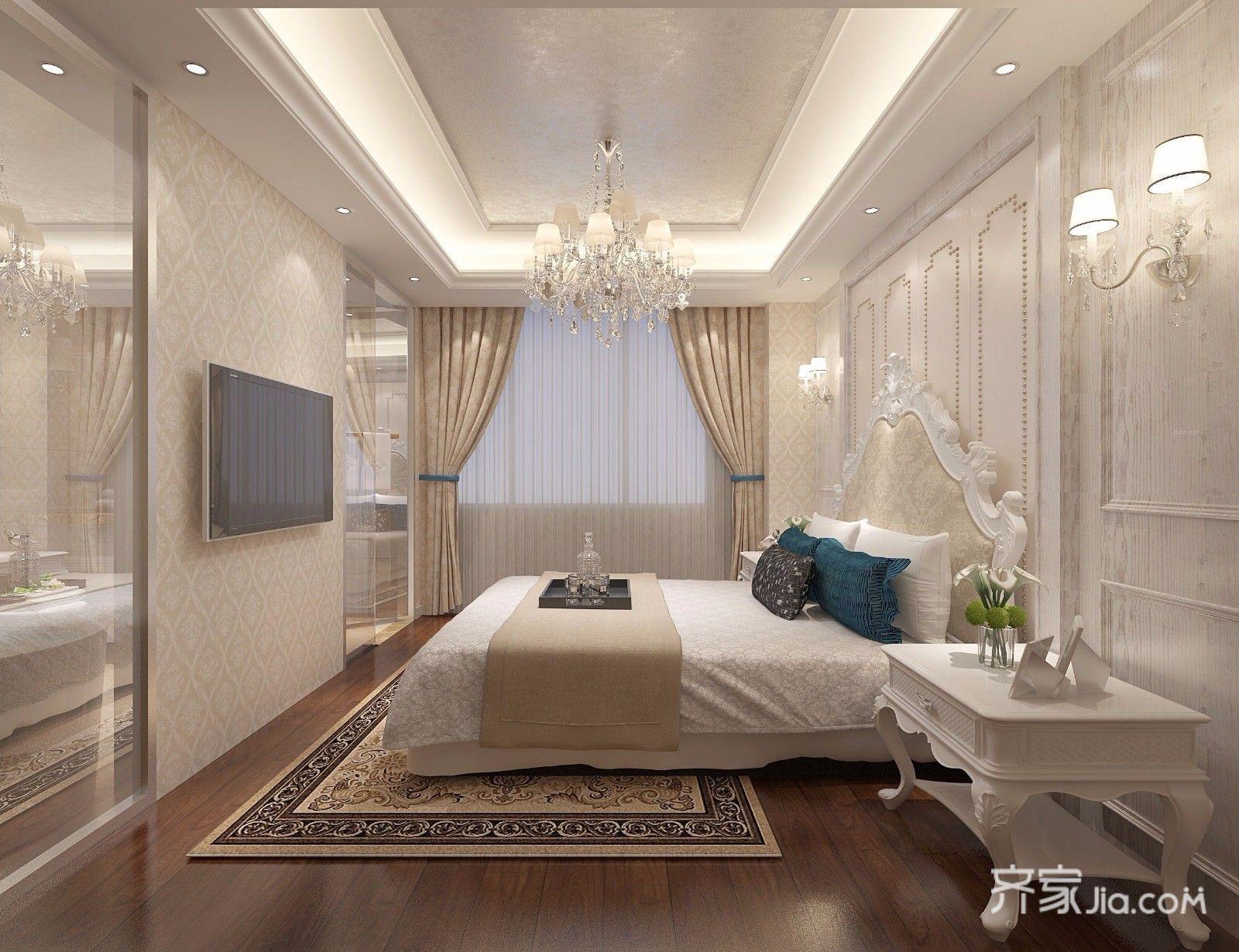 三居室欧式精装修主卧设计图