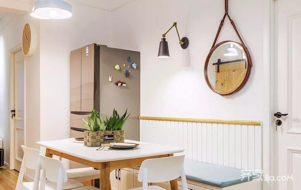 二居室简约风格装修餐厅卡座图片