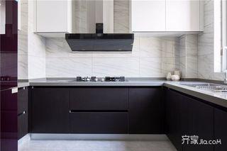 125平美式三居室装修厨房设计图