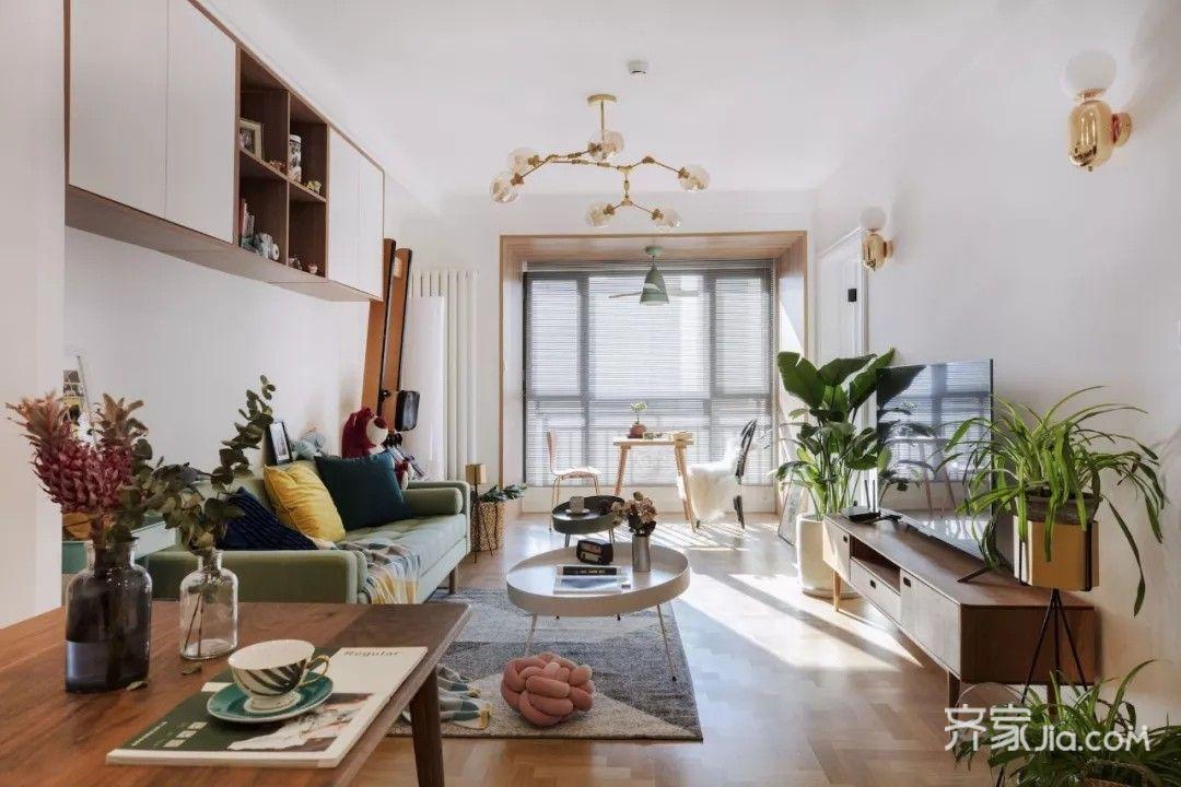 80平宜家风格装修客厅布置图