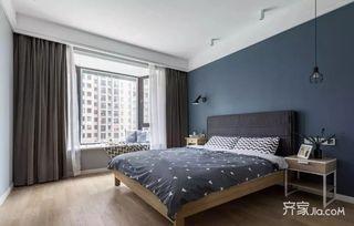 125平宜家风格三居室装修卧室设计图