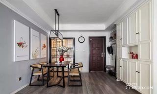 120㎡美式风格三居室装修餐厅布置图