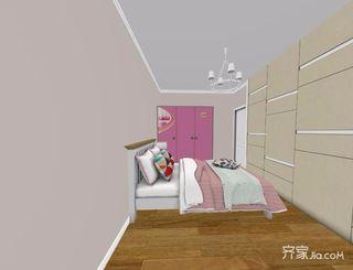 96平米简约风格二居室装修卧室效果图