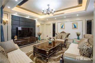 145平米法式风格四房装修电视背景墙设计图
