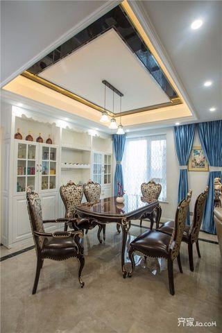 145平米法式风格四房装修餐厅装潢图