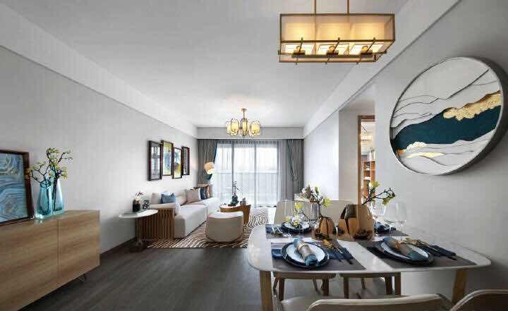 [装修案例]100平米新中式风格装修效果图 软装家居搭配出高境界