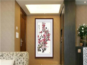 进门玄关装饰画挂什么画合适 开门见什么风水好