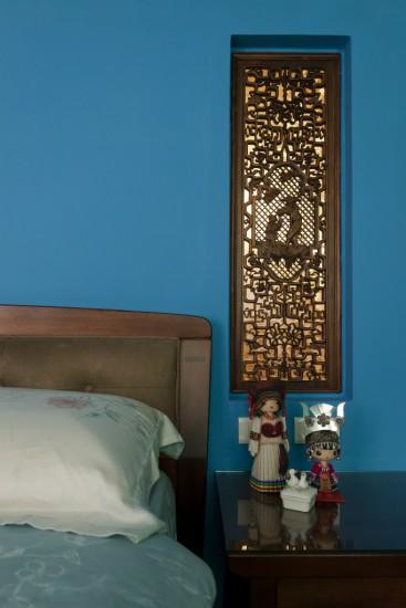 中国式装配蓝色儿童台灯感觉干净吗?