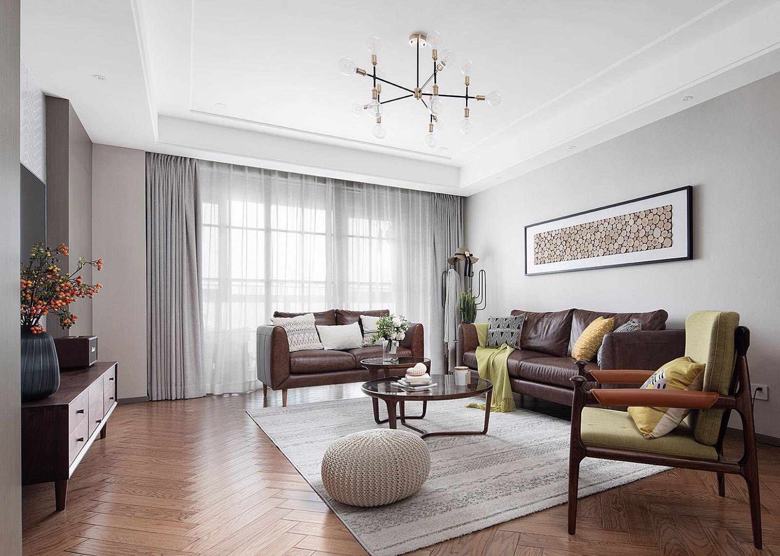 现代北欧三居室装修效果图