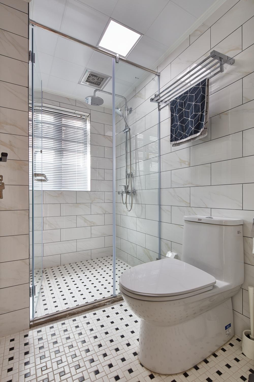 124㎡北欧风格淋浴房装修效果图