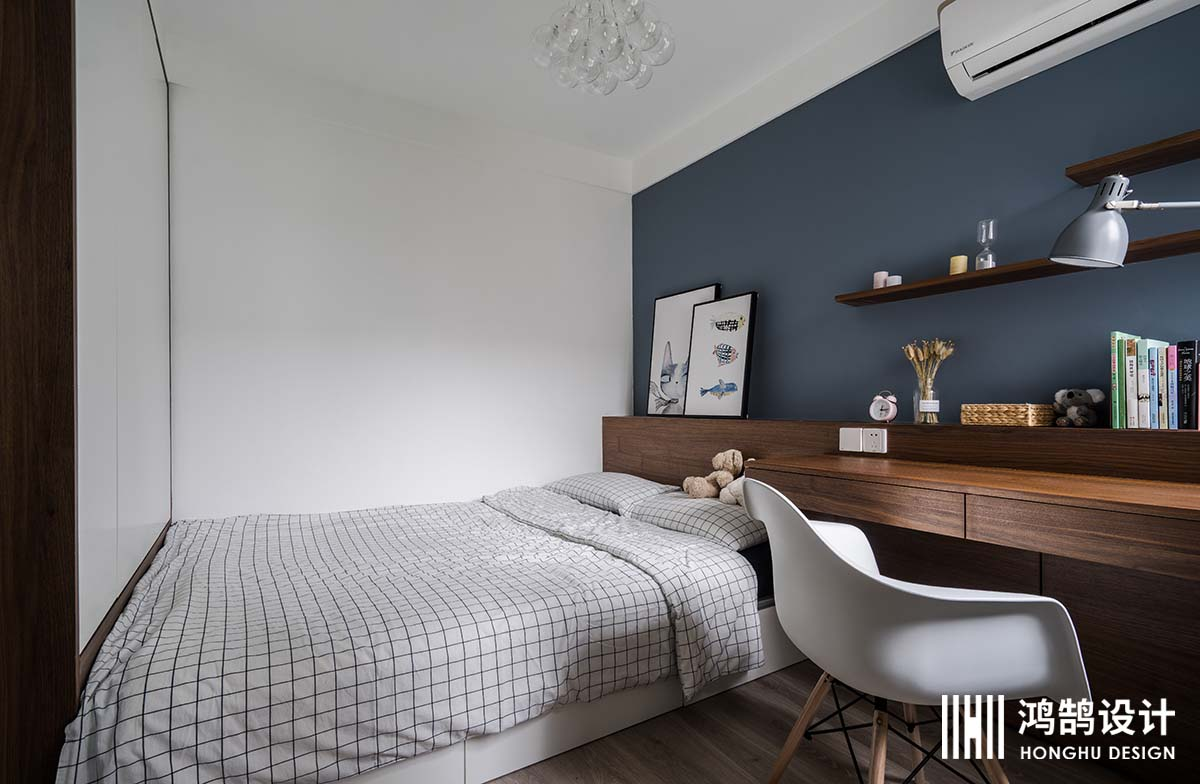 100㎡北欧风格家榻榻米床设计