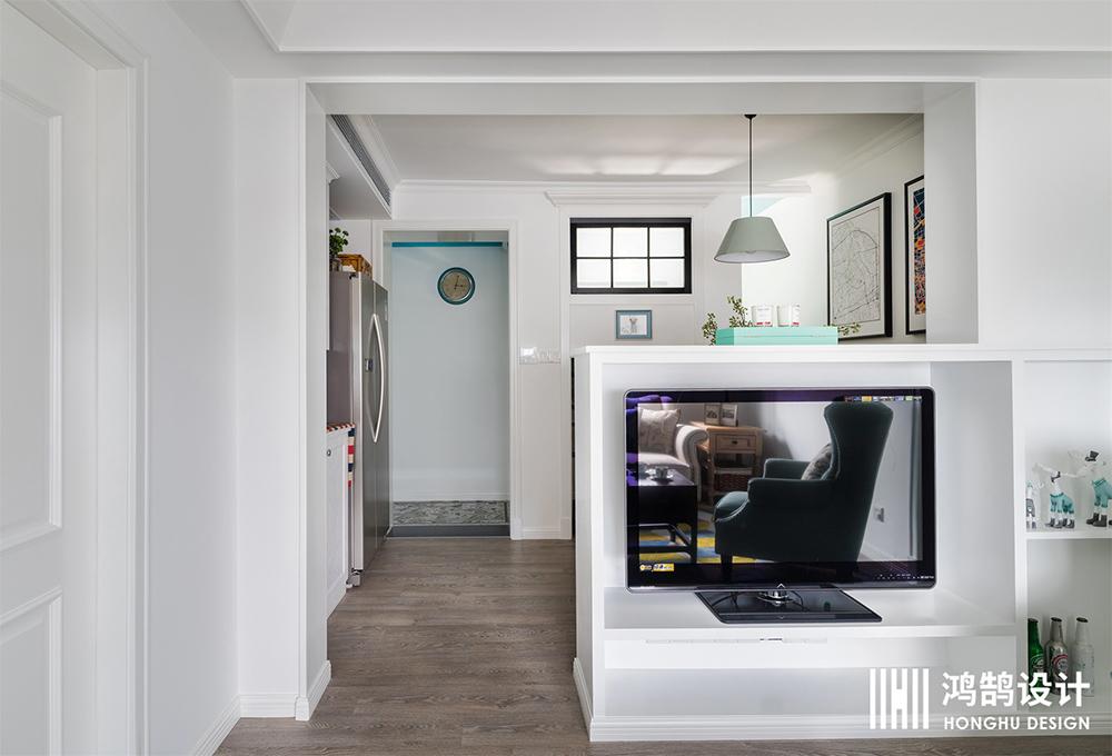 70平美式风装修电视墙设计