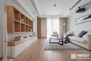 110㎡日式风格家客厅设计图