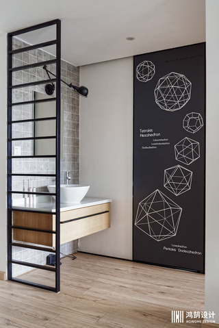 110㎡日式风格家洗手台设计
