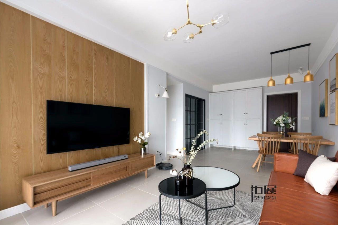 小户型北欧风格装修电视背景墙设计图