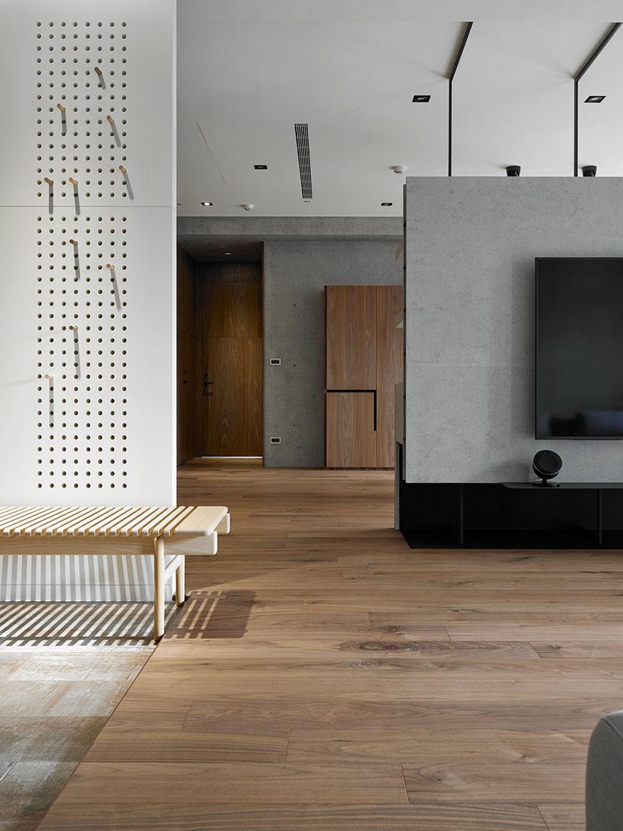 158平现代简约三居装修电视背景墙效果图