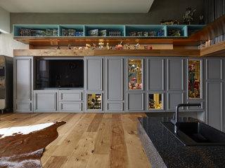 小户型Loft混搭风格装修电视背景墙效果图