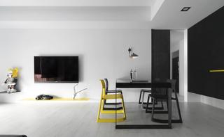 黑白极简现代风装修效果图