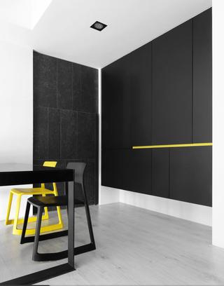 黑白极简现代风装修储物柜设计效果图
