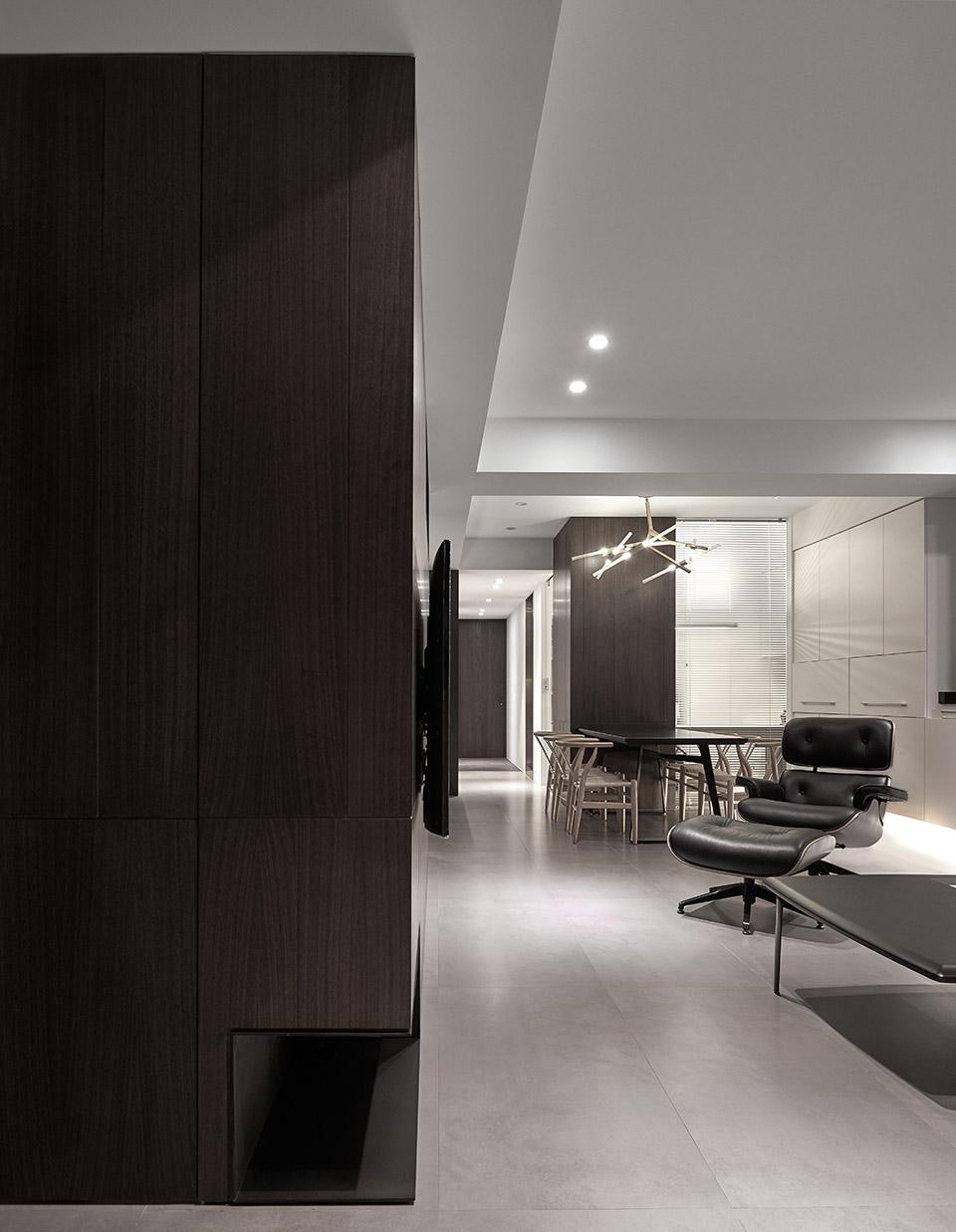 122平现代时尚简约风装修客厅过道