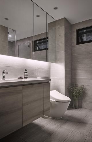 122平现代时尚简约风装修浴室柜图片
